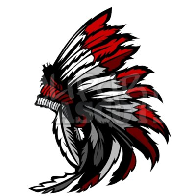 American Native indian feather headress mascot