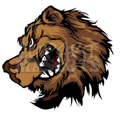 Bear grizzly mascot head clipart