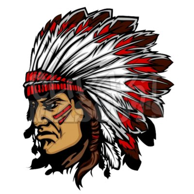 Indian chief mascot clipart