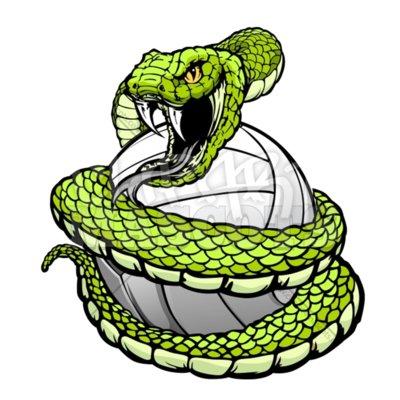 Viper volleyball clipart