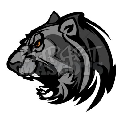 Panther mascot clipart 2