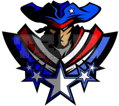 Patriot mascot clipart