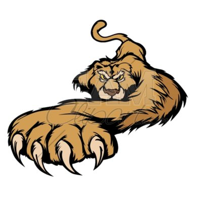 Prowling Cougar mascot clipart
