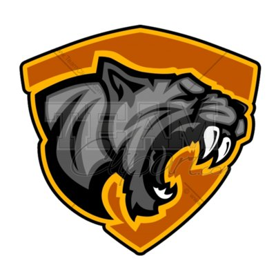 Panther mascot clipart 3