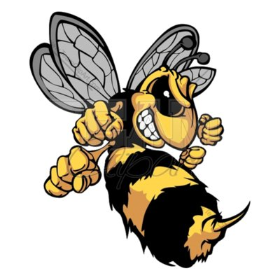 3252 bee mascot cartoon vector clipart image