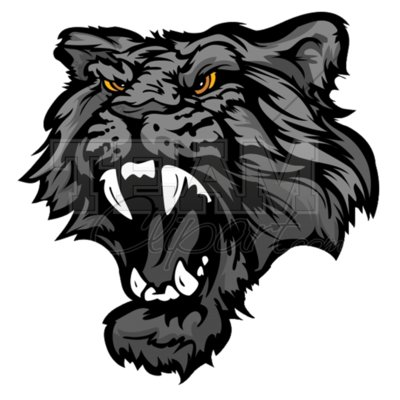 Panther mascot clipart 4