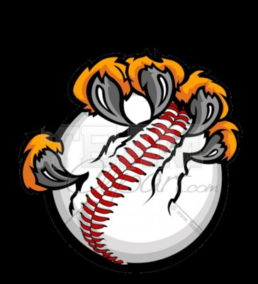 Tiger claw baseball clipart