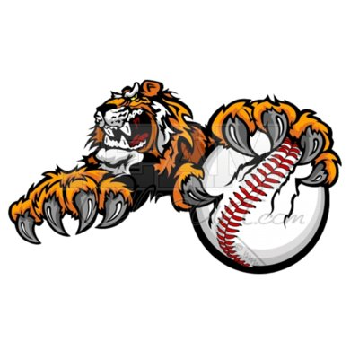 Tiger baseball clipart
