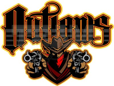 Outlaws mascot clipart