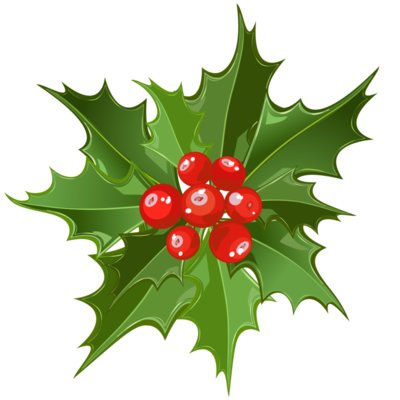 holly mistletoe clipart