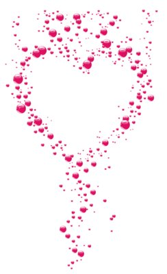 Transparent Pink Bubble Heart PNG Clipart