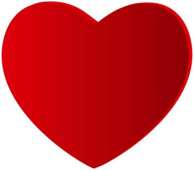 Large Red Heart PNG Clipart 992