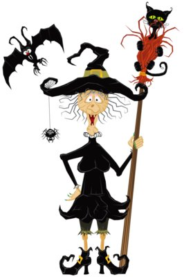 Halloween Creepy Witch PNG Clipart