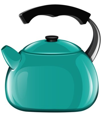 Blue Kettle PNG Clipart 697