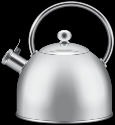 Silver Kettle PNG Clipart 699