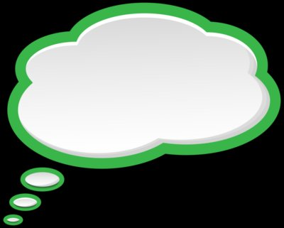 Bubble Speech Green White PNG Clip Art Image