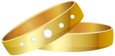 Wedding Rings Gold PNG Clip Art 1703