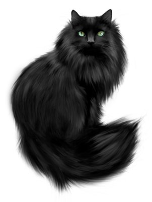 Painted Black Cat Clipart