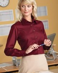 Harriton Ladies' Long-Sleeve Button Down Shirt