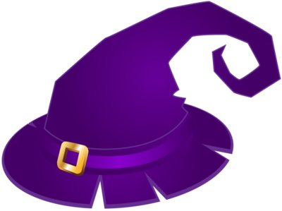 Purple Witch Hat Transparent PNG Clip Art Image