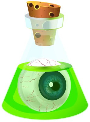 Halloween Poison Potion with Eyeball Transparent PNG Image