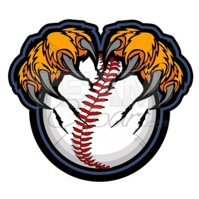 Tiger baseball claws clipart